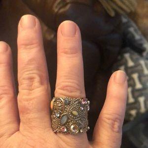 Sorelli ring with Swarovski crystals